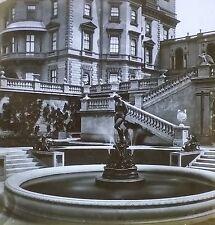 Fountain, Osborne House, Magic Lantern Glass Slide, (Isle of Wright, England)