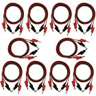 """10 Pack of Red and Black Banana to Banana Test Lead Sets - 18 Gauge, 36"""" Length"""