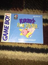 Kirby's Star Stacker Manual Only (Nintendo Game Boy, 1997)