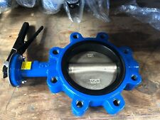 """6"""" Lug Butterfly Valve, Ductile Iron Disc, Buna seat (Brand New) 150 PSI"""