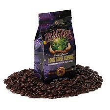 Kona Coffee Beans by Imagine 100% -Kona Hawaii -Medium Dark Roast Whole Bean 4oz