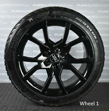 """Genuine 18"""" Audi A5 Viper Black Alloy Wheels With Winter Ice & Snow Tyres x FOUR"""