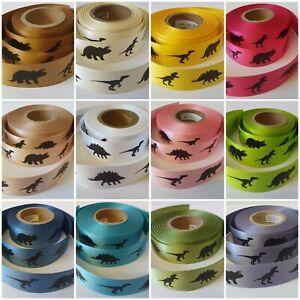 Dinosaur Ribbon 12 Colours Available Birthdays Gift Wrap Cake ribbon