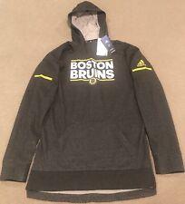 $100 Adidas Boston Bruins NHL Squad Pullover Hoodie Men's M D78439
