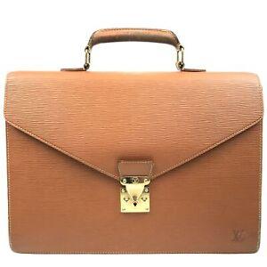 100% Authentic Louis Vuitton Epi Serviette Ambassador M54418 [Used] {05-0096}