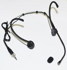Headset Mic Headworn Microphone Foldable earhook for Sennheiser Wireless Black