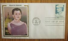 FRANCES PERKINS FDR CABINET MEMBER FIRST WOMAN  1980 COLORANO SILK FDC