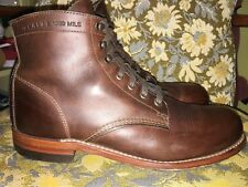 Wolverine 1000 Mile Brown Leather Boits Mens 9D