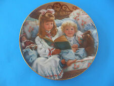 """""""Night-Time Story"""" The Barefoot Children Plate Collectio By Sandra Kuck #1157 Nt"""
