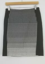 White House Black Market Straight Pencil Skirt Womens size 0 Mini Stretch Cotton