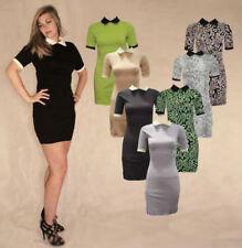 Short Sleeve Stretch Shirt Dresses for Women