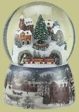 Musical Revolving Train Dome Globe, New, Free Shipping