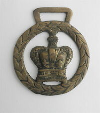Victorian Brass SADDLE Decoration: Royal Crown in a Wreath
