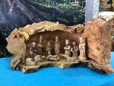 Christmas Nativity Scene Olive Wood Original Design Bethlehem City HolyLand Made