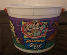 Vintage 1993 Arbys Scooby Doo Bucket Ghosts Shaggy Yogi Bear & Friends