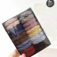 20Pcs Women Colorful Hair Band Ties Rope Ring Elastic Hairband Ponytail Holder