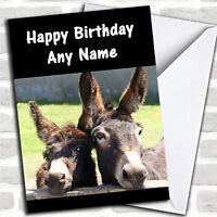 Donkeys Personalized Birthday Card