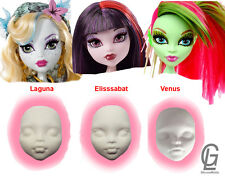 Face head Monster High silicone mold mould barby doll girl fondant cake fimo