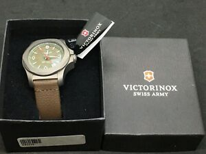 Victorinox Swiss Army OLIVE inox Titanium I.N.O.X. Watch 241779 #2