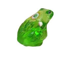 Fenton Glass Key Lime Green Handpainted Frog , new in box
