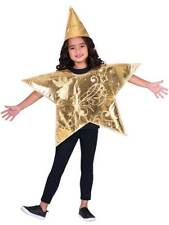 Childrens 3-8 Yrs Gold Christmas Nativity North Star Fancy Dress Costume Tabard