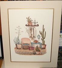 CAROL JEAN CAT IN WINDOW HAND SIGNED IN PENCIL LARGE LITHOGRAPH