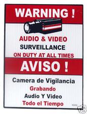 "18"" Red CCTV Video Surveillance Sign, 10pcs / WS18R"