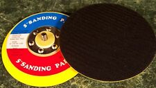 """Two 5 """" Hook and Loop Dual Action Da Sander Pad valcrow Soft Foam Backing Ansi"""