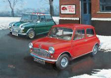 Austin Rover Mini Cooper Classic Car Christmas Card