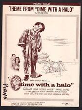 Dime With A Halo 1963 Barbara Luna Roger Mobley Rafael Lopez Sheet Music