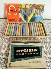 Vintage Weber Costello Omega & Prang Chalkboard Chalk Lot 2, Usa