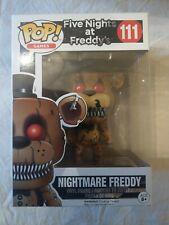 Nuevo Y En Caja FUNKO POP VINILO #111 Pesadilla Freddy figura cinco juegos de la noche At Freddy'