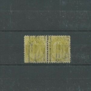 #81 VF to SUPERB centered PAIR 7c Numeral Cat $60 Canada used