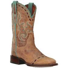 Dan Post Western Womens Boots McKenna Square Toe Tan DP4621 Size US 9