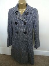 Principles Petite Black / White Checked Button Coat Size 8