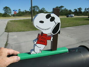 NEW Snoopy as JOE COOL Hanging Out Mailbox Topper Handmade