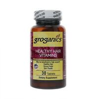 Groganics Healthy Hair Vitamins Dietary Supplement, 30 ea (Pack of 2)