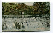 Livingston Manor NY (Sullivan Co) Jackman Falls, dam, see building?, 1915