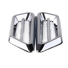 Silver Chrome Air Flow Intake Exterior Vent Fender Side Decor Stickers Universal