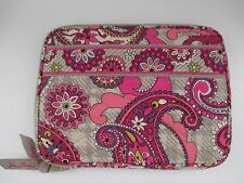 Vera Bradley Paisley Meets Plaid Pink & Gray Kindle Nook E-Reader Case Sleeve