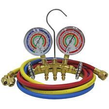 Mastercool 59161 Brass R410a R22 R404a 2 Way Manifold Gauge Set With 3 18