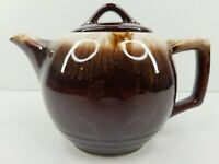 McCoy Brown Drip Glaze Teapot Covered Lid Vintage Ceramic Pottery 140 USA Made