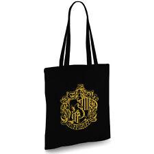 Harry Potter inspired Huffelpuff black Tote bag