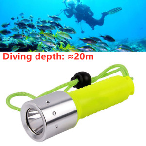 T6 LED Diving Flashlights Torch Lamp Underwater Flashlight with Wrist Strap