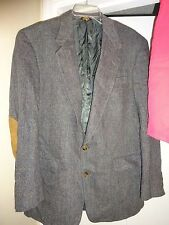 AUSTIN REED Sports Coat Sportscoat Size 44R Gray Tweed 2 Button Pure Virgin Wool