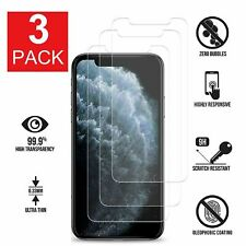 3-PACK For Apple iPhone XS Max Tempered Glass Screen Protector Bubbles Free