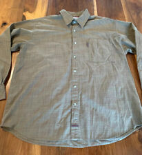 Columbia Men's Green Plaid Long Sleeve Button Down Shirt Size XL