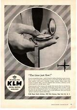 1958 KLM Royal Dutch Airlines The Time Just Flew! Pocket Watch Vintage Print Ad