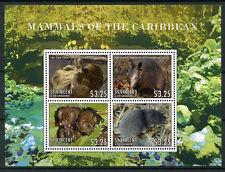 St Vincent & Grenadines 2013 MNH Mammals of Caribbean 4v M/S Bats Sloth Stamps