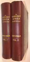 IN DARKEST AFRICA! Henry Stanley(FIRST EDITION!)1890! Set Adventure Faux Leather